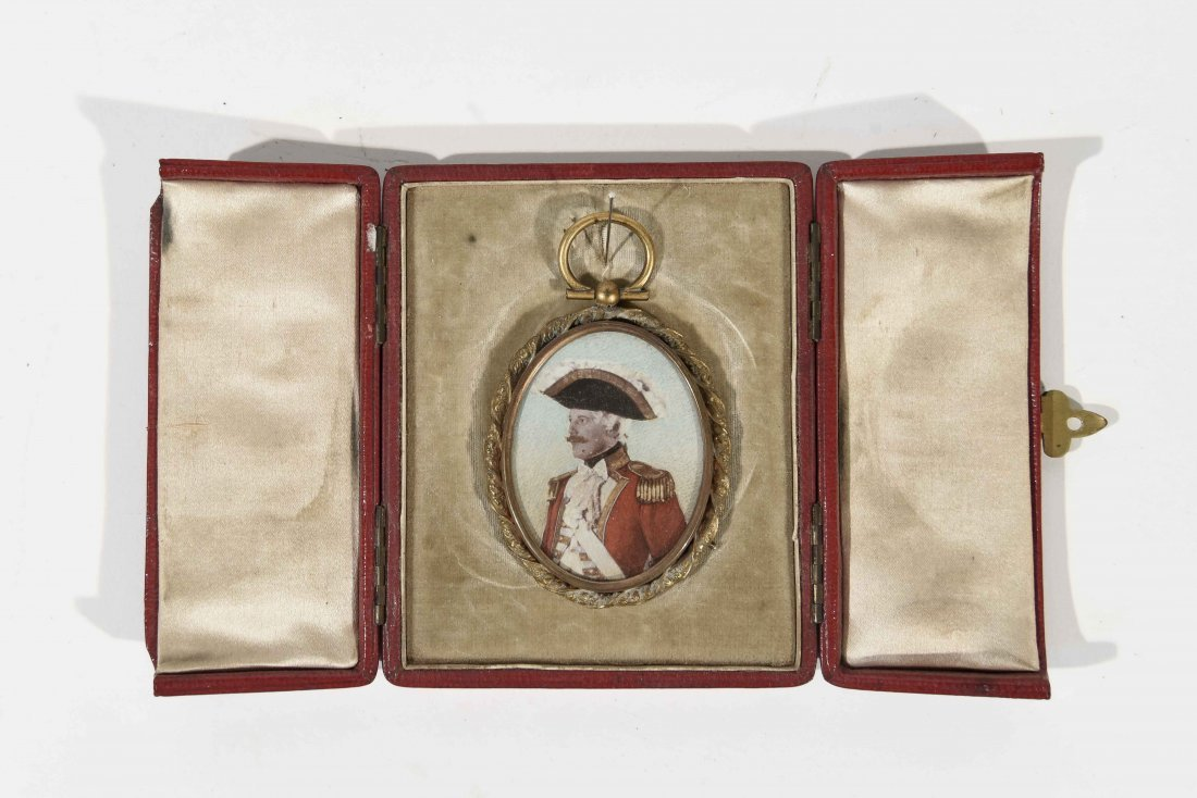 19TH C. PENDANT WITH SOLIDERS PORTRAIT