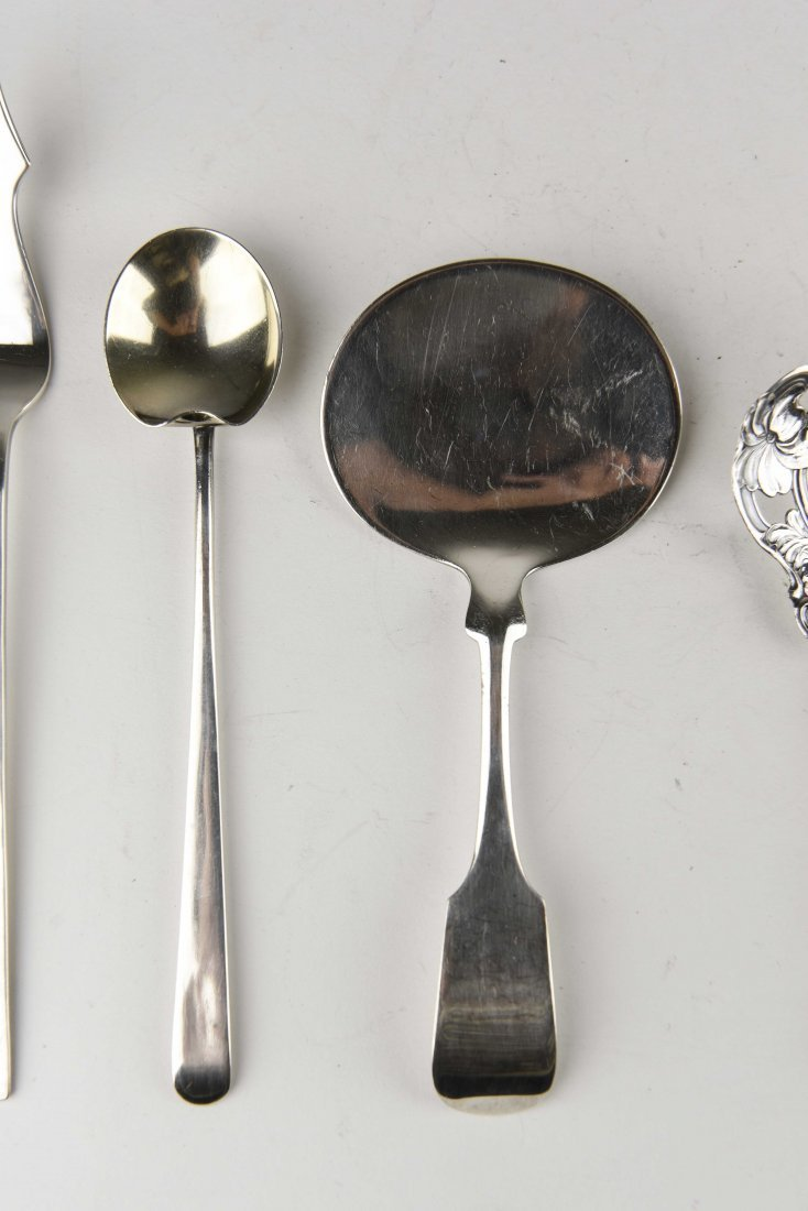 GROUPING OF STERLING SILVER SERVINGWARE - 4