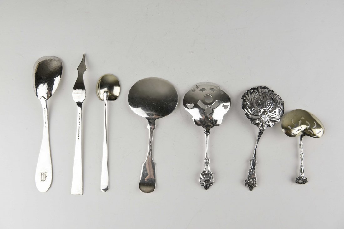 GROUPING OF STERLING SILVER SERVINGWARE - 6