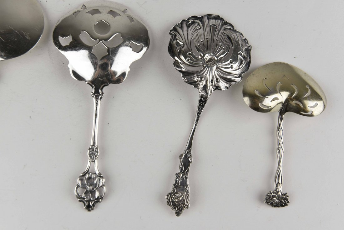 GROUPING OF STERLING SILVER SERVINGWARE - 9