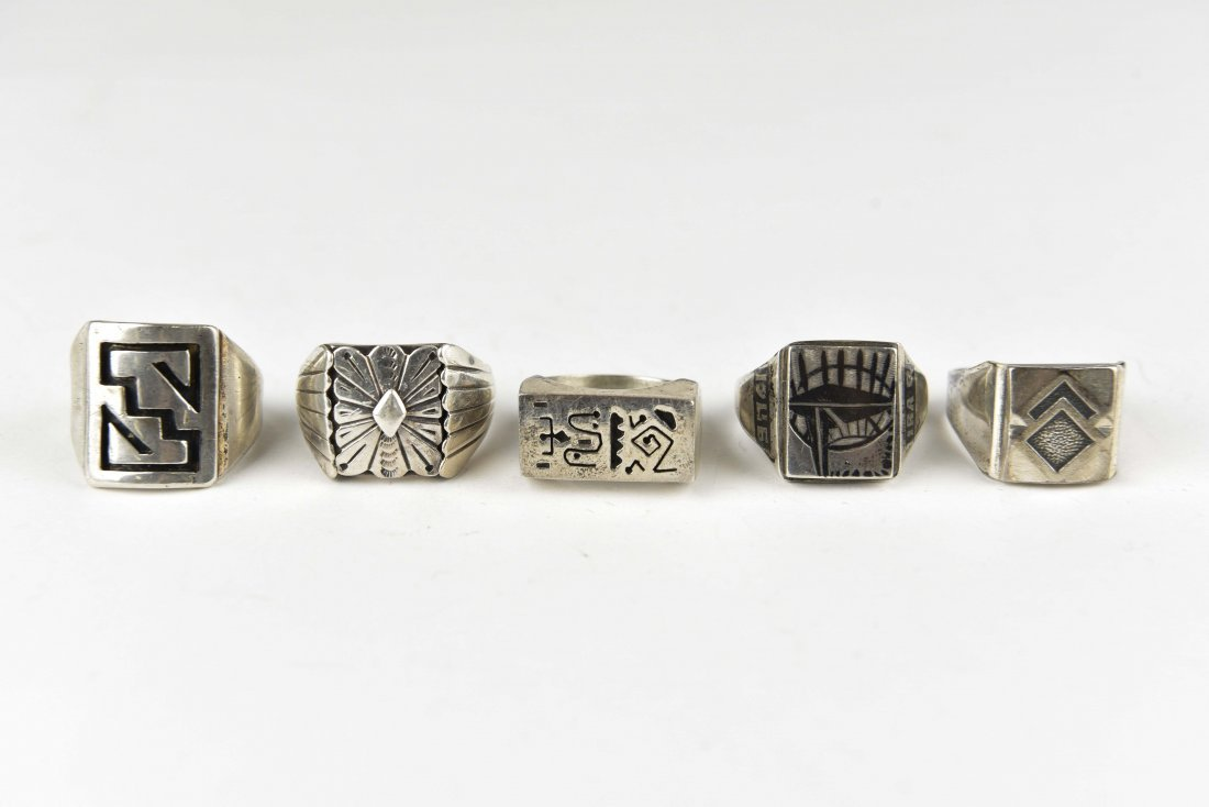 (5) STERLING SILVER RINGS