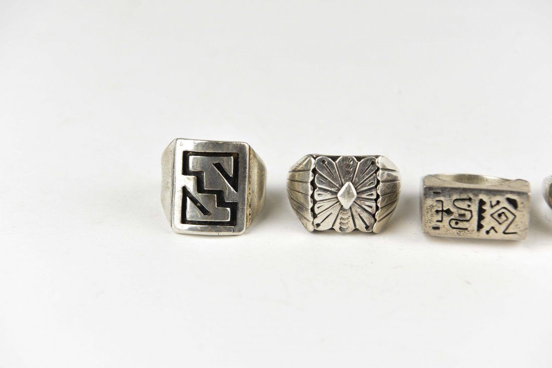 (5) STERLING SILVER RINGS - 2
