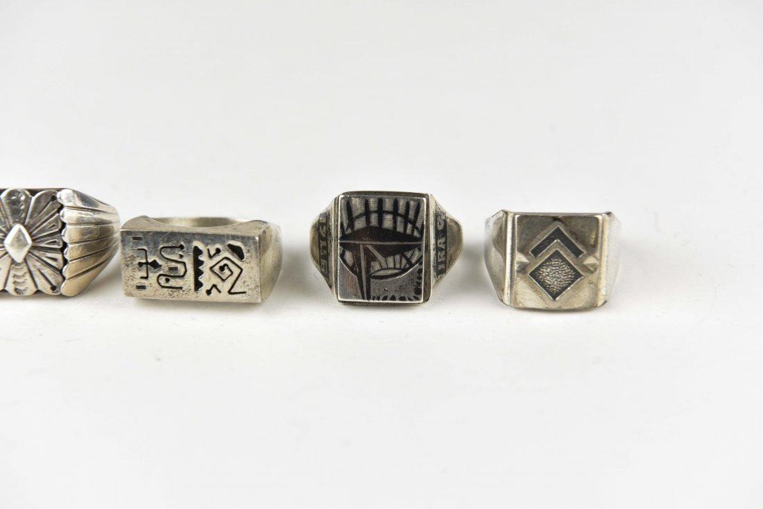 (5) STERLING SILVER RINGS - 3