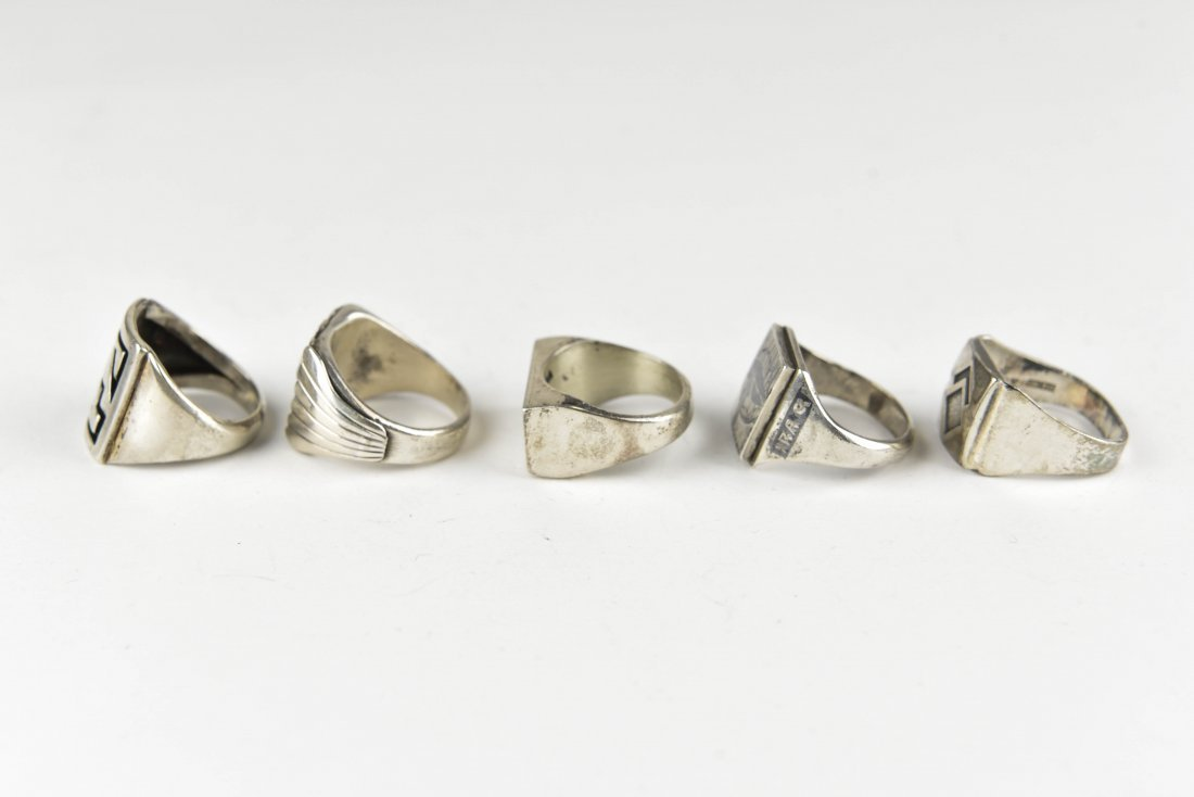 (5) STERLING SILVER RINGS - 4