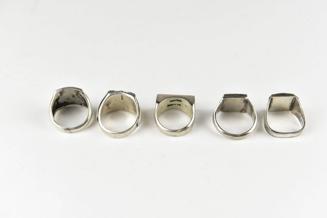 (5) STERLING SILVER RINGS - 5
