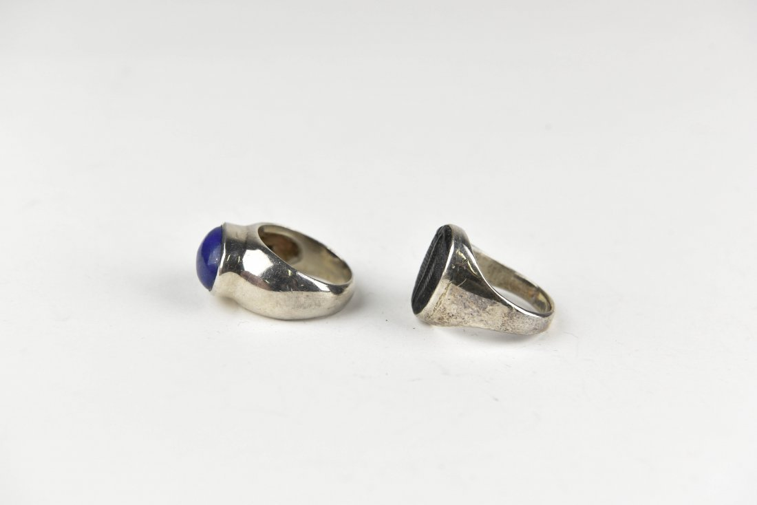 (2) STERLING SIVLER RINGS - 2