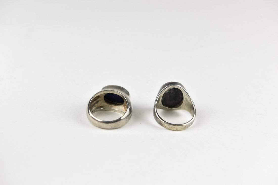 (2) STERLING SIVLER RINGS - 3