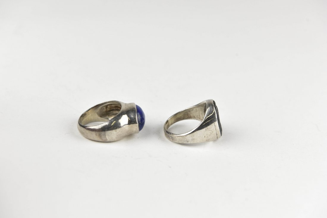 (2) STERLING SIVLER RINGS - 4
