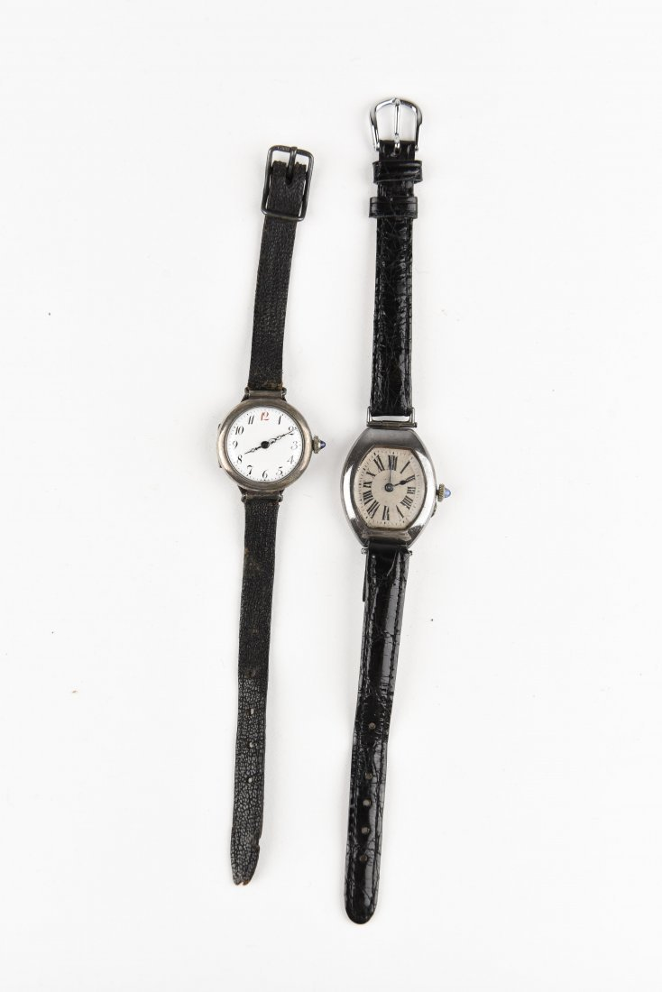 TWO SILVER WRISTWATCHES - 2