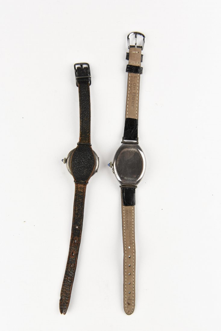 TWO SILVER WRISTWATCHES - 3