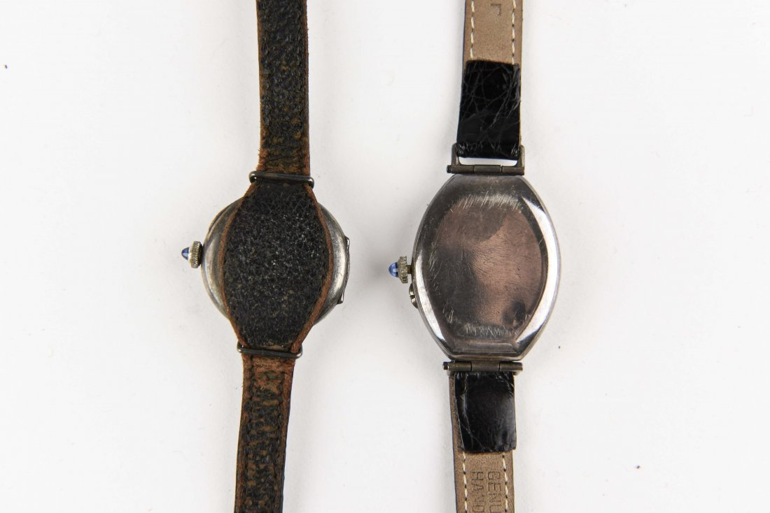 TWO SILVER WRISTWATCHES - 4