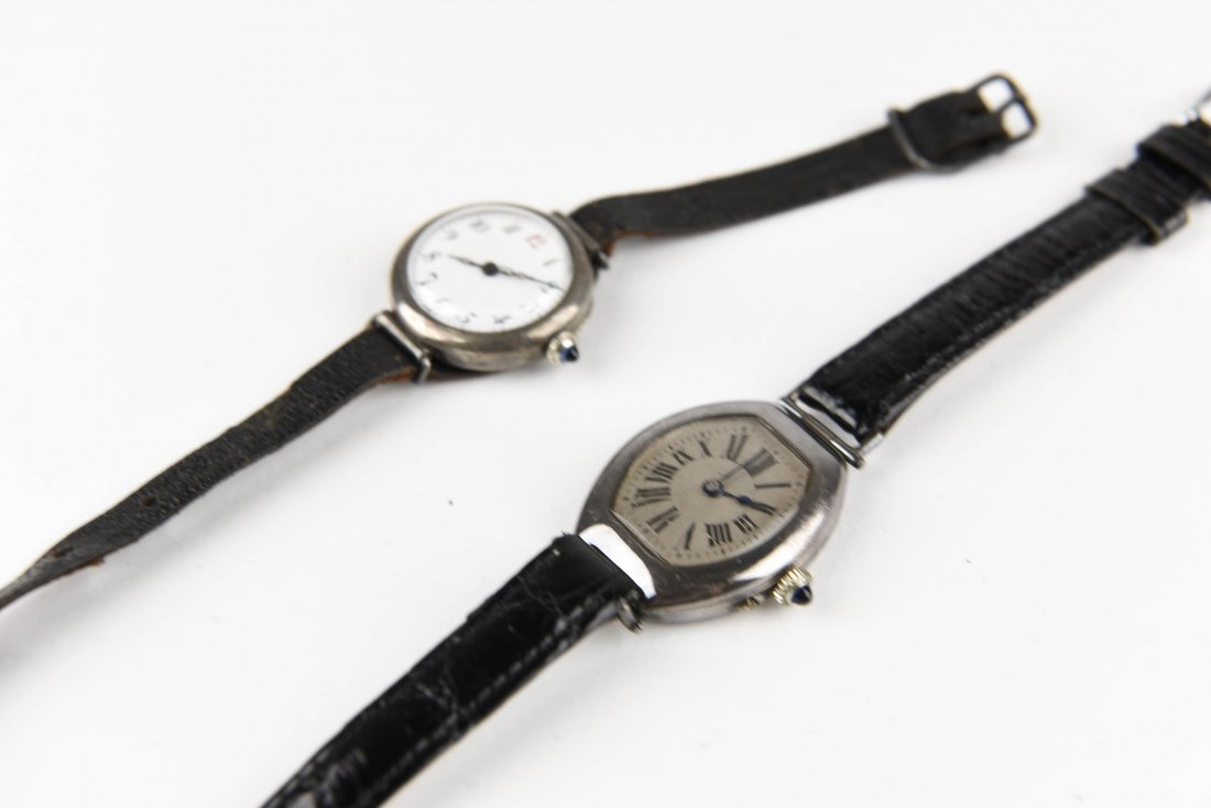 TWO SILVER WRISTWATCHES - 5