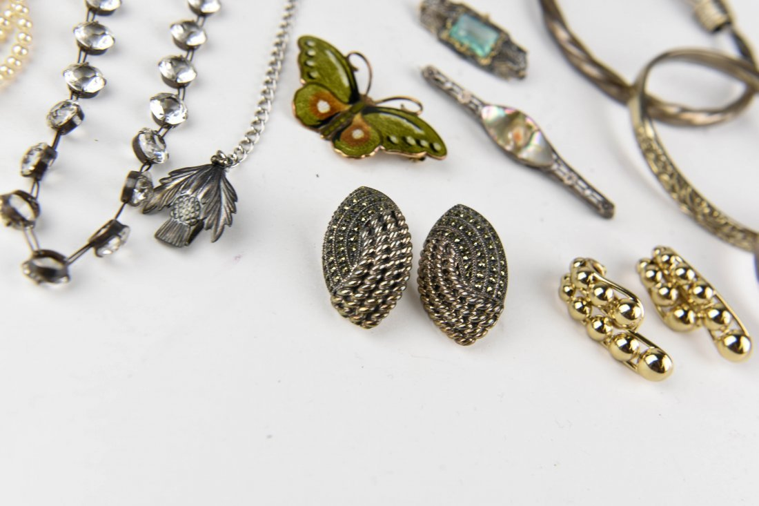 GROUPING OF STERLING JEWELRY ETC. - 2