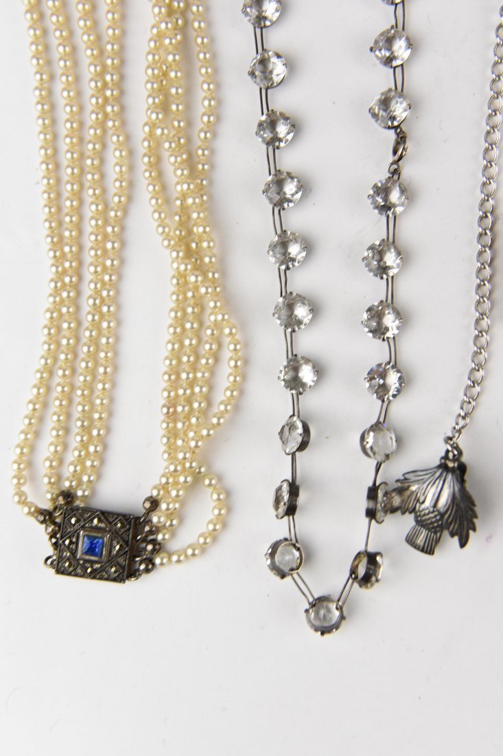 GROUPING OF STERLING JEWELRY ETC. - 4