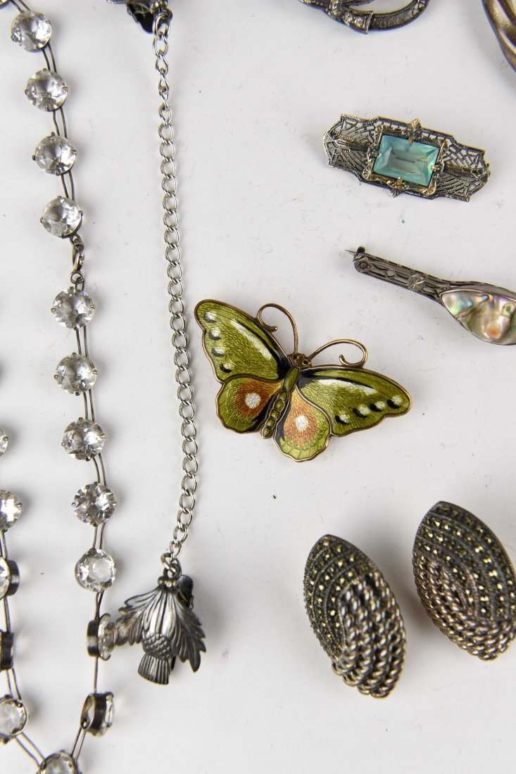 GROUPING OF STERLING JEWELRY ETC. - 5