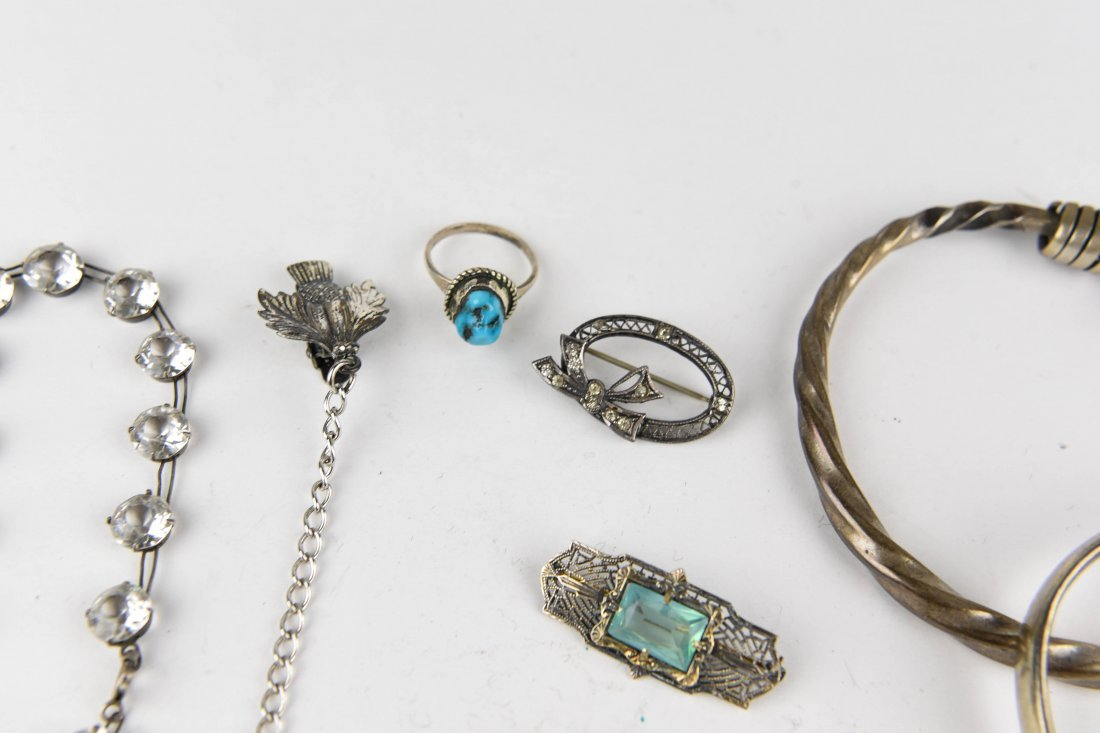 GROUPING OF STERLING JEWELRY ETC. - 6
