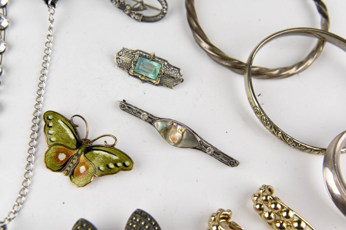 GROUPING OF STERLING JEWELRY ETC. - 7