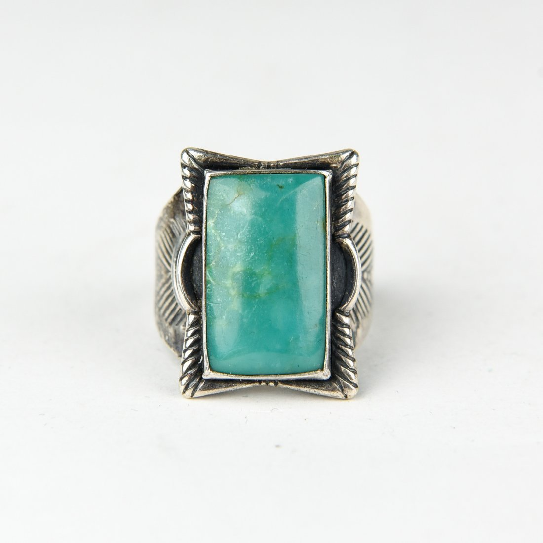NATIVE AMERICN STERLING AND TURQUOISE RING