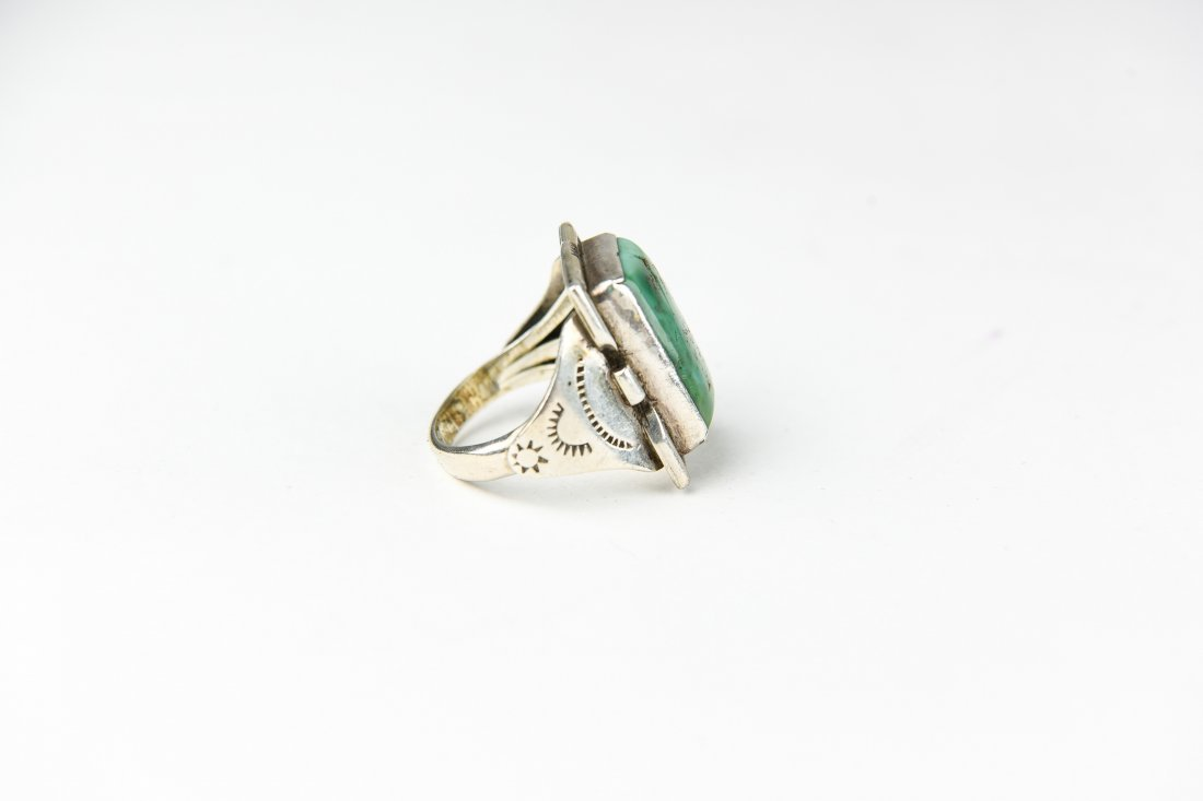 STERLING AND TURQUOISE RING - 2