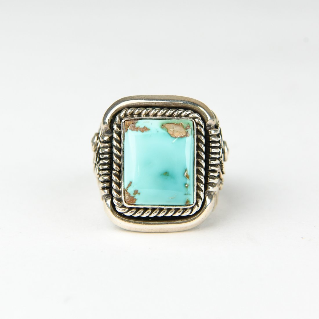 BEGAY STERLING AND TURQUOISE RING