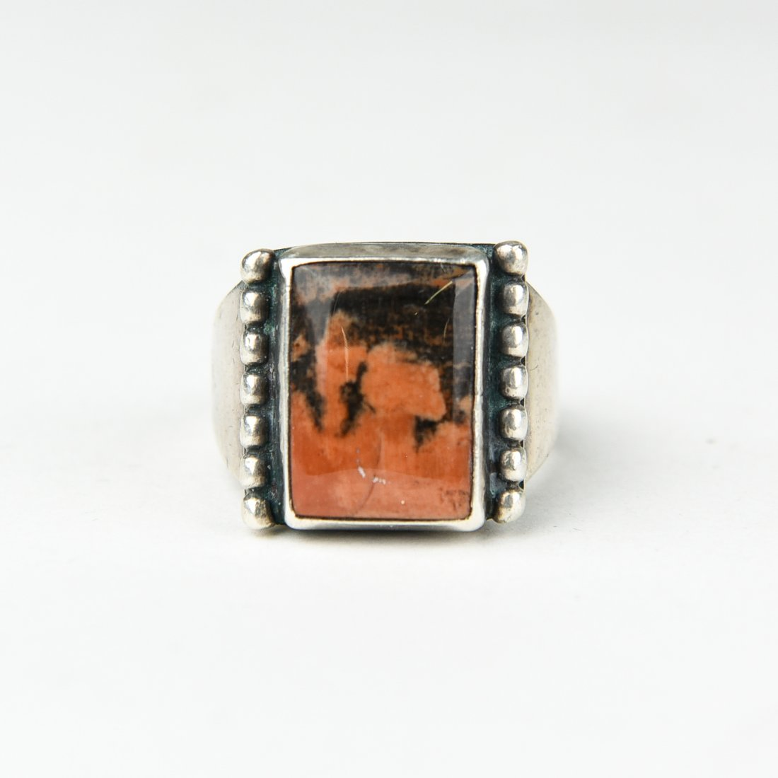 STERLING AND AGATE RING