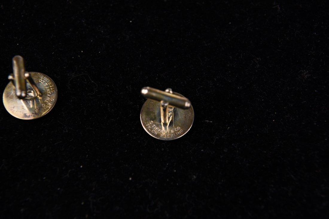 TIFFANY 18K GOLD & STERLING SILVER CUFFLINKS - 5
