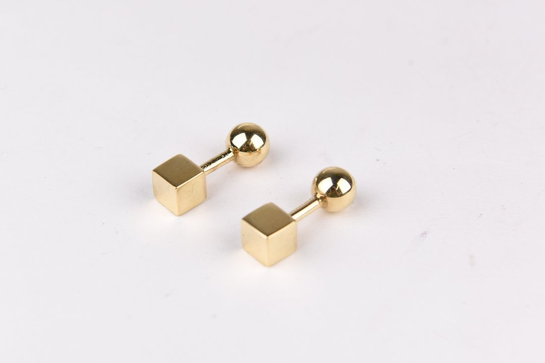 TIFFANY 14K GOLD CUFFLINKS
