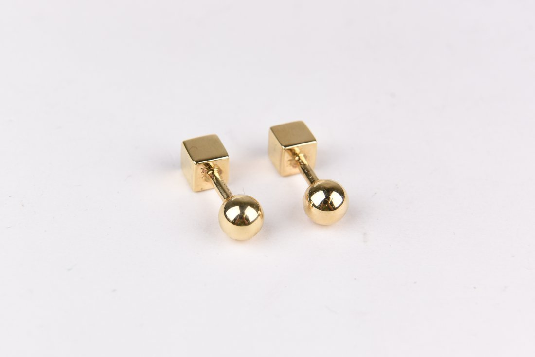 TIFFANY 14K GOLD CUFFLINKS - 2
