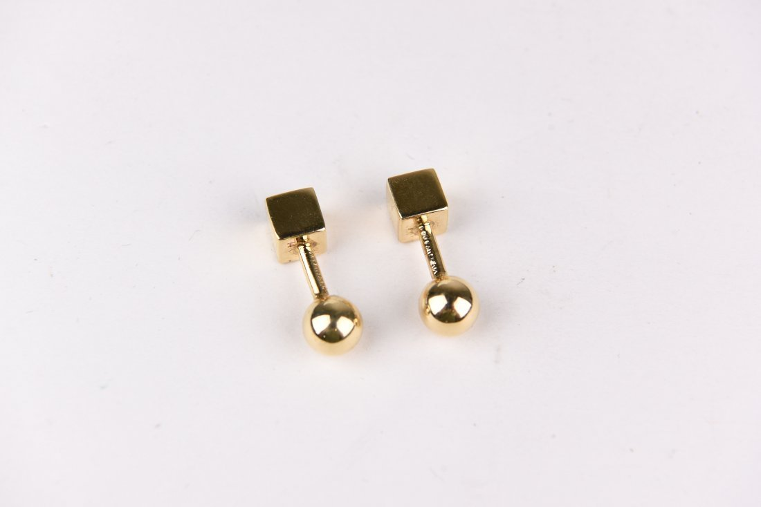 TIFFANY 14K GOLD CUFFLINKS - 3