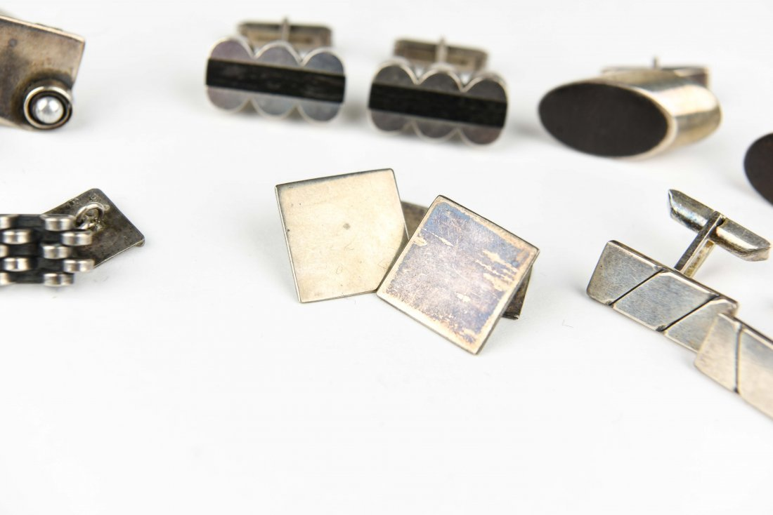 (6) PAIR MODERNIST STERLING CUFFLINKS - 3