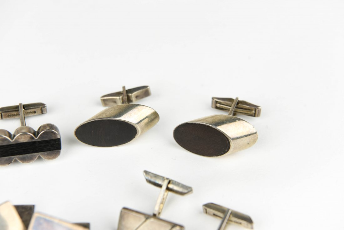 (6) PAIR MODERNIST STERLING CUFFLINKS - 5