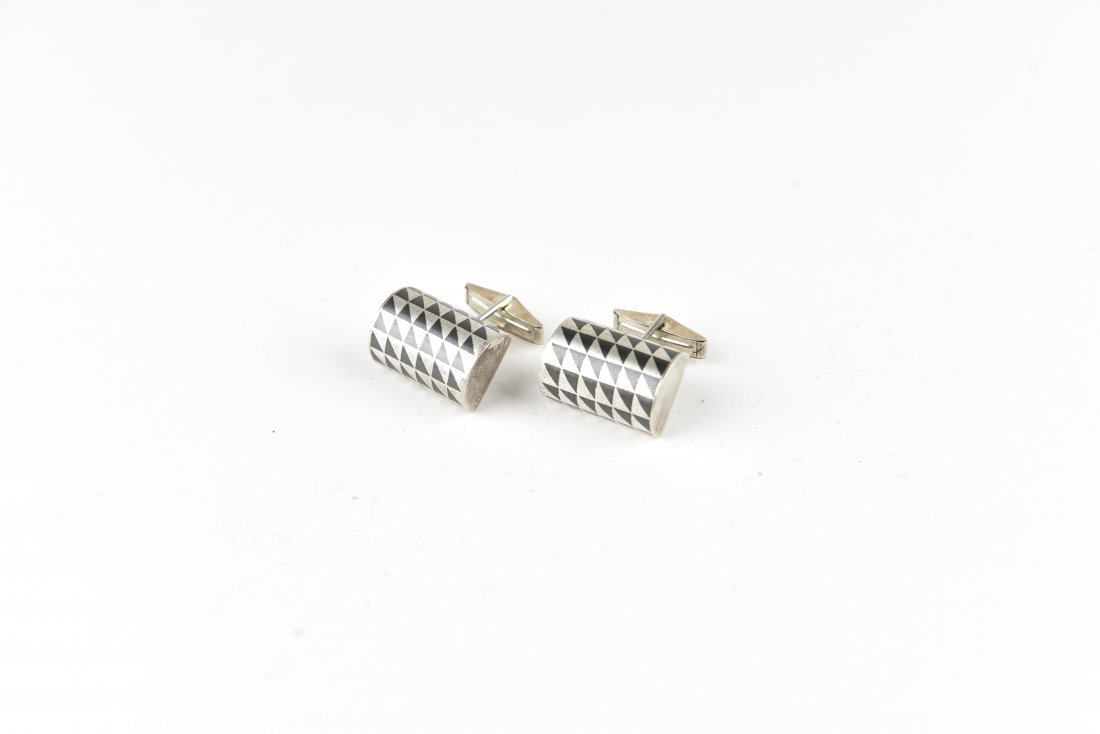 MODERNIST STERLING CUFFLINKS