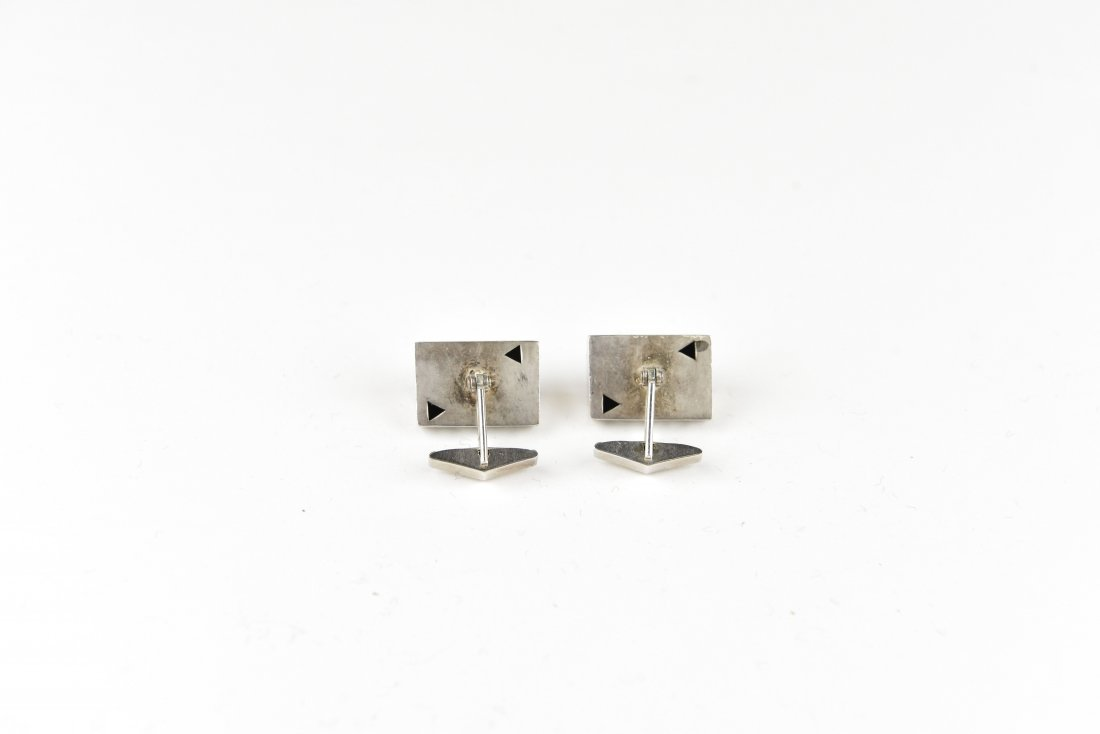 MODERNIST STERLING CUFFLINKS - 2