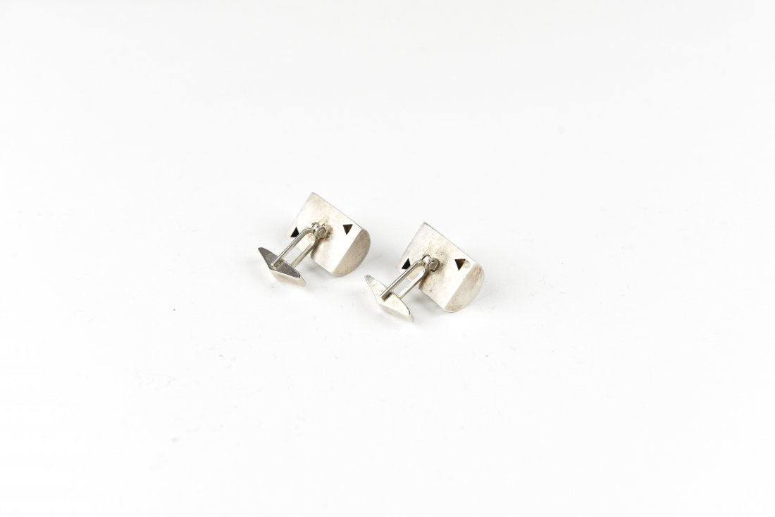 MODERNIST STERLING CUFFLINKS - 3