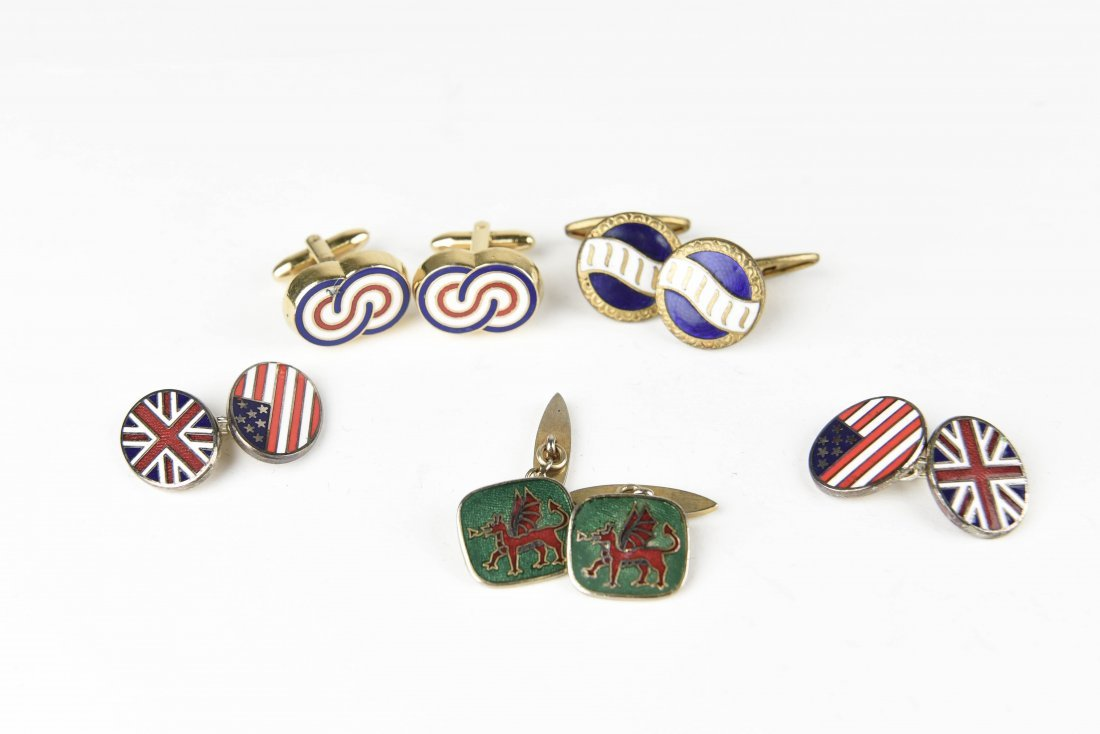 (4) PAIRS OF PATRIOTIC ETC. CUFFLINKS