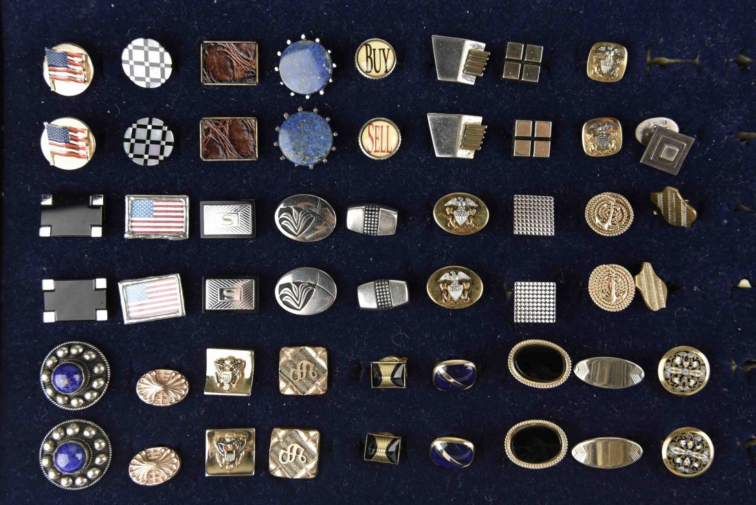 LARGE GROUPING OF VINTAGE CUFFLINKS
