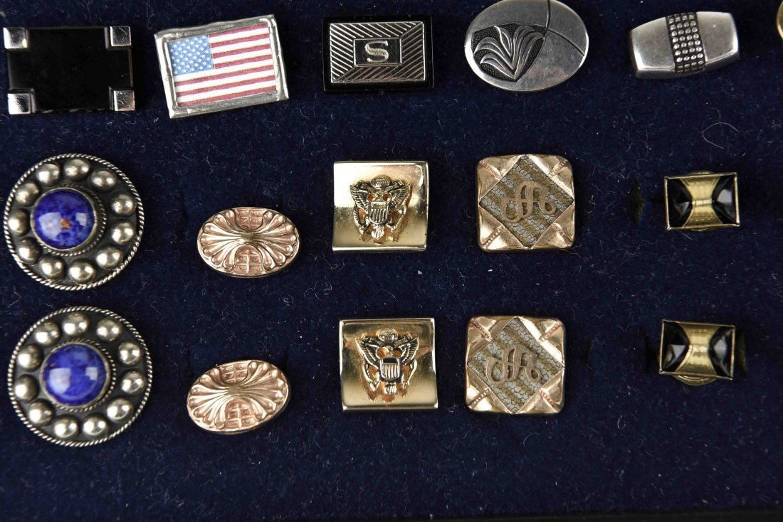 LARGE GROUPING OF VINTAGE CUFFLINKS - 2