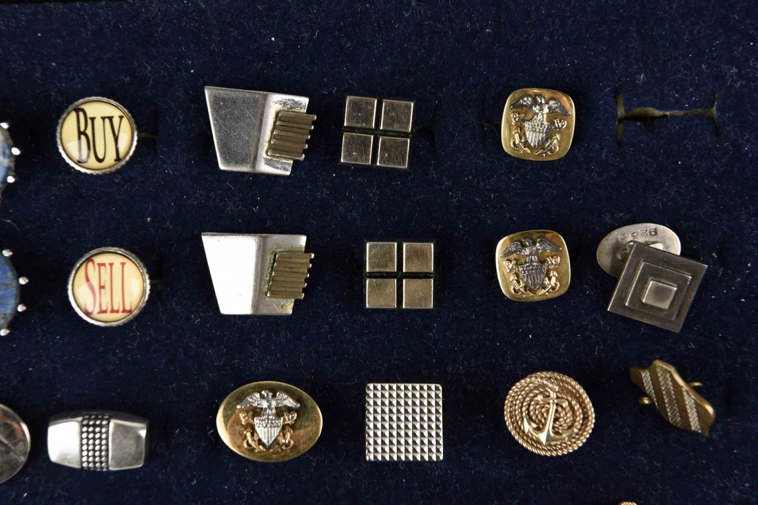 LARGE GROUPING OF VINTAGE CUFFLINKS - 5