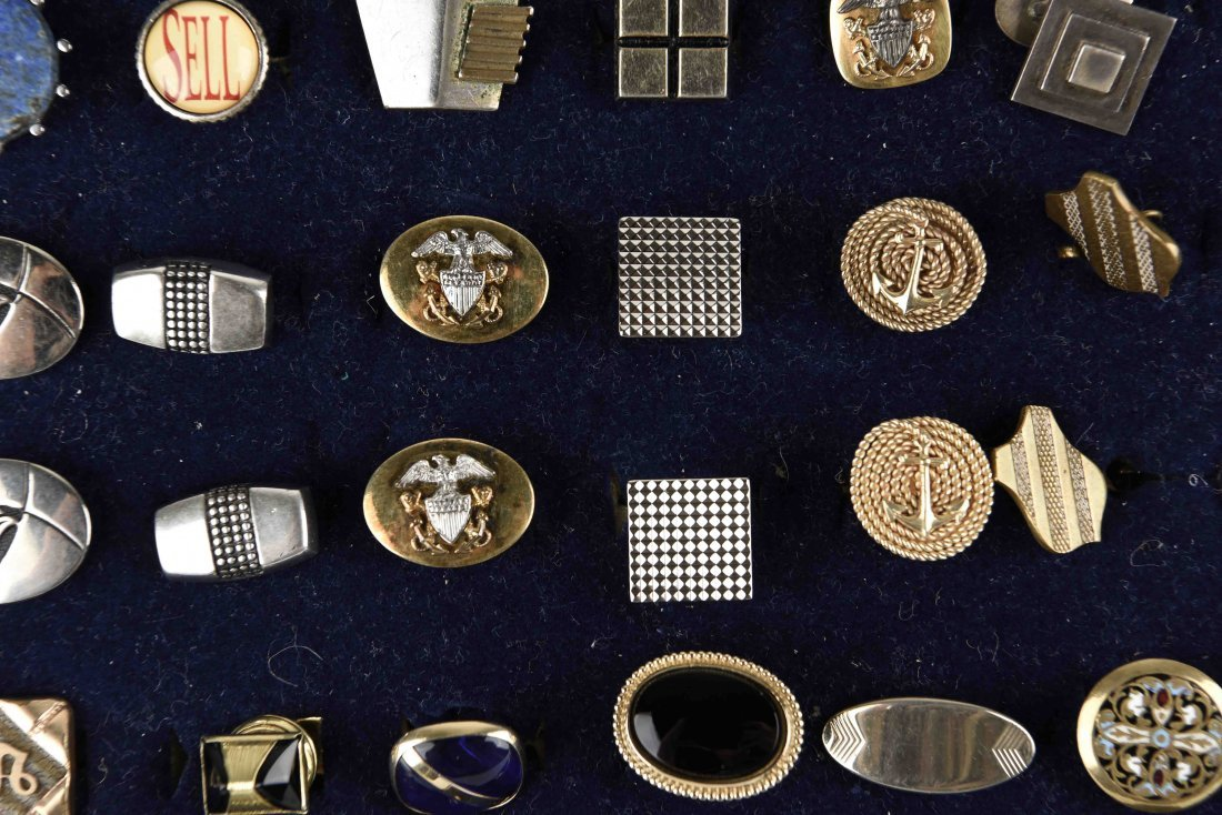 LARGE GROUPING OF VINTAGE CUFFLINKS - 6