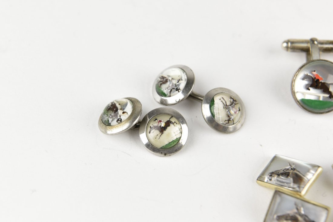 (6) PAIRS OF EQUESTRIAN AND HORSE CUFFLINKS - 2