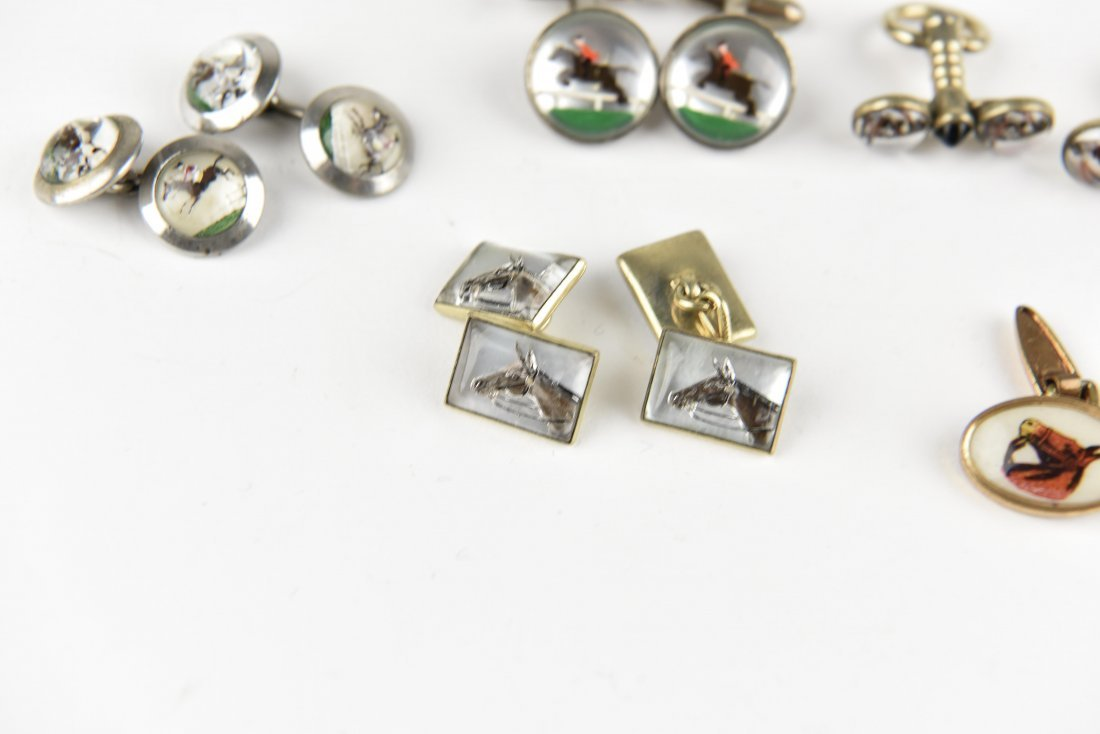 (6) PAIRS OF EQUESTRIAN AND HORSE CUFFLINKS - 3