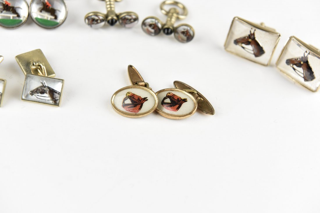 (6) PAIRS OF EQUESTRIAN AND HORSE CUFFLINKS - 5