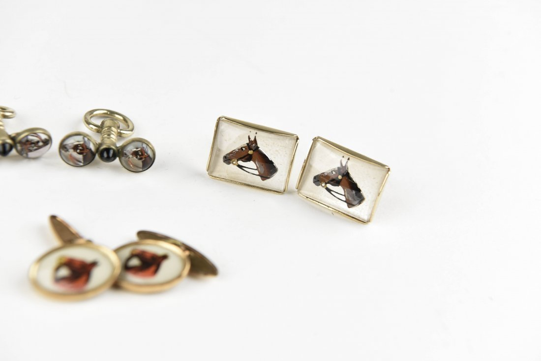 (6) PAIRS OF EQUESTRIAN AND HORSE CUFFLINKS - 6