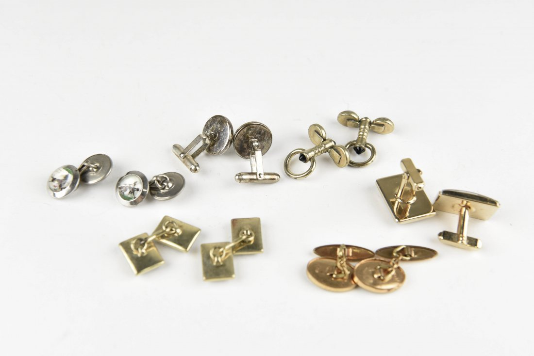 (6) PAIRS OF EQUESTRIAN AND HORSE CUFFLINKS - 8