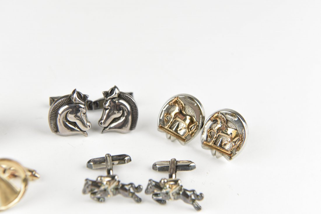 (5) HORSE AND EQUESTRIAN CUFFLINKS - 3