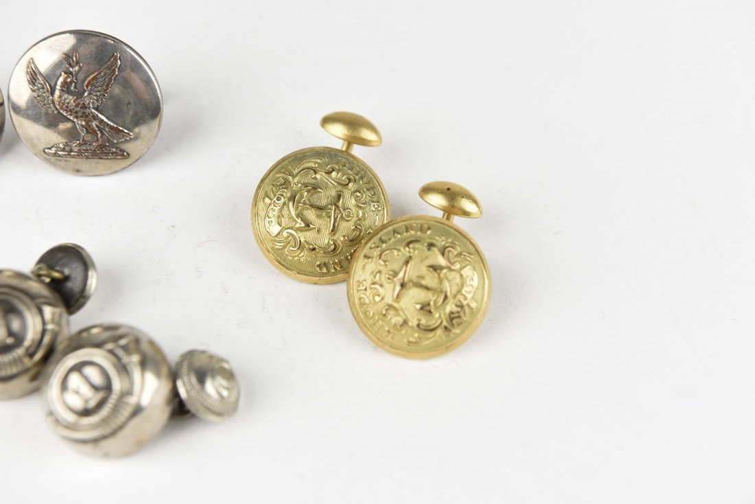(3) PAIRS OF BUTTON CUFFLINKS - 2