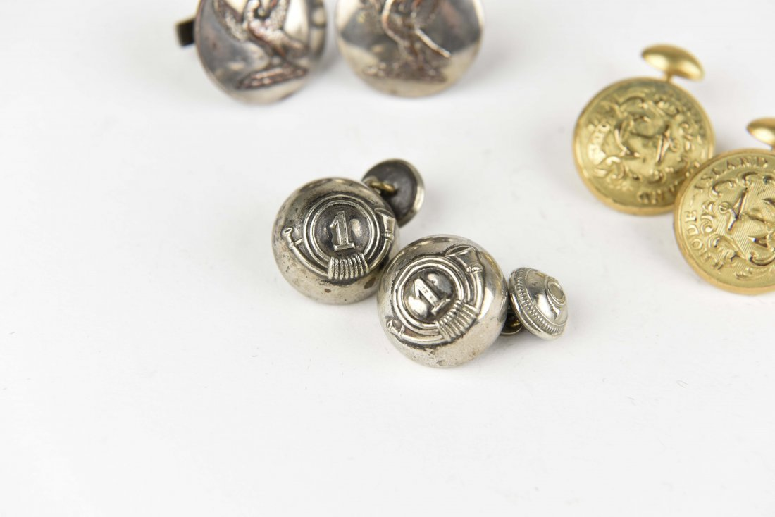 (3) PAIRS OF BUTTON CUFFLINKS - 3