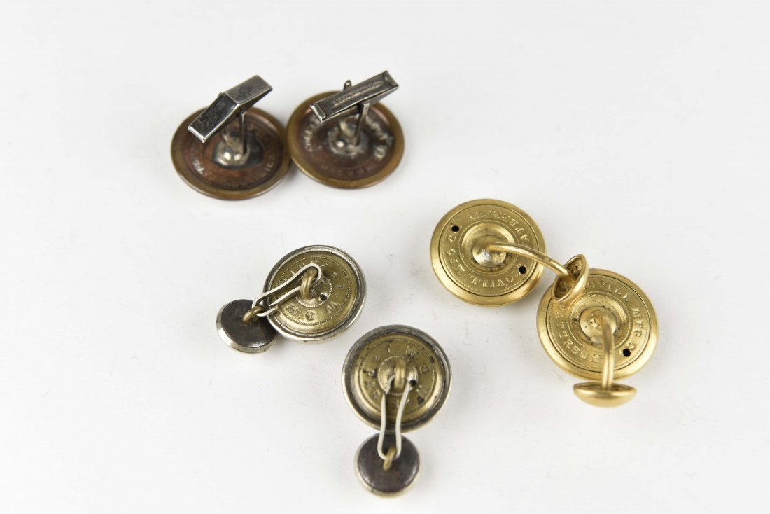 (3) PAIRS OF BUTTON CUFFLINKS - 5