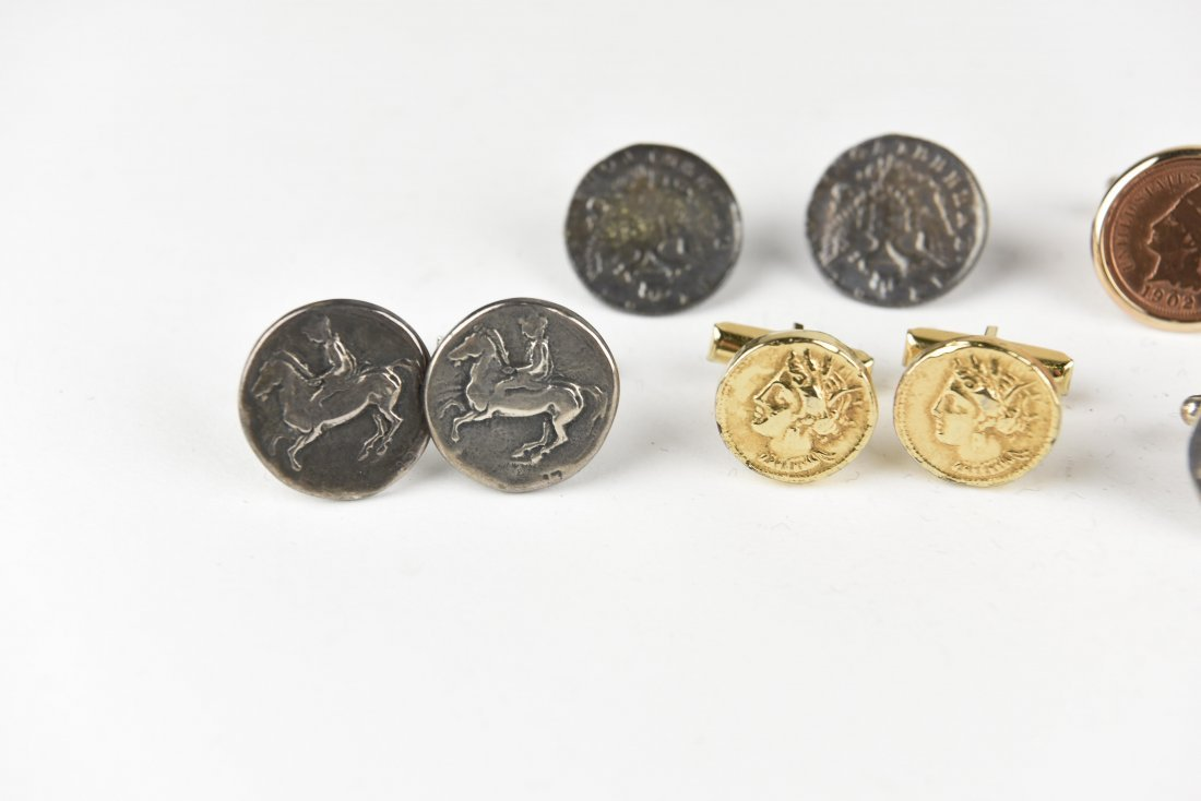 (6) PAIRS OF COIN CUFFLINKS - 2
