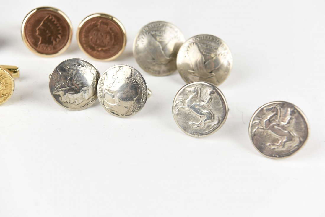 (6) PAIRS OF COIN CUFFLINKS - 3